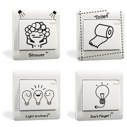 $enCountryForm.capitalKeyWord UK - Mix Order Fashionable and Funny Cartoon Art Decal Switch Sticker BathRoom WC Washing Room Creative Switch Sticker Decor