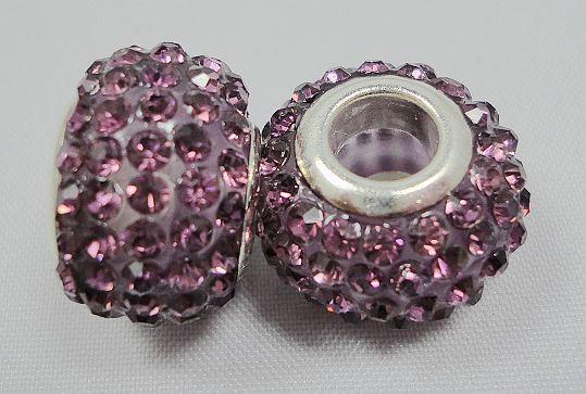 Perles de Murano en cristal coloré de style européen en argent 925 ajustent des bracelets Bracelets BCB005, peuvent mélanger la couleur