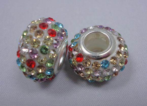 925 cuentas de Murano de cristal de sal caliente de plata fit pulsera de encantos 100 unids color mezclado BCB007