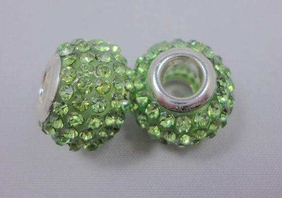 925 серебро горячая соль Кристалл Мурано бисер fit подвески браслет 100 шт. смешанный цвет BCB007
