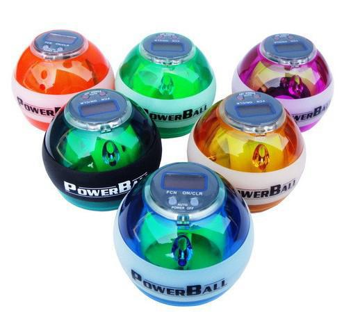 Meilleure qualité PowerBall 10 pcs Sports Gyro Vitesse Mètre Power Ball Gyroscope Poignet Renforceur Boules