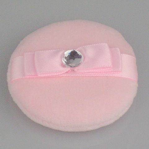 Twarz i ciało Proszek Puff Importuje bawełniane Różowe Różowe Proszek Puff 30 Sztuk / Torba 60mm