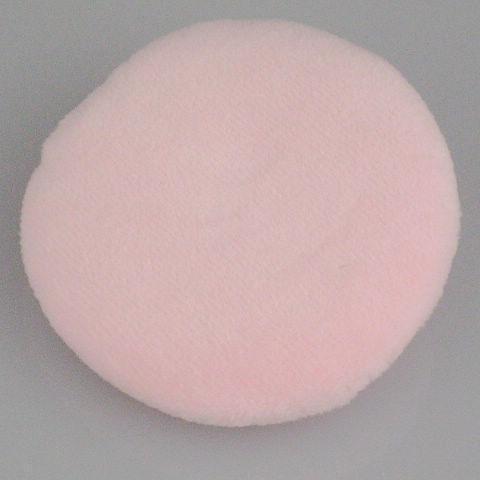 페이스 및 바디 파우더 퍼프 코튼 리본 타입 핑크 파우더 퍼프 / bag 60mm 수입