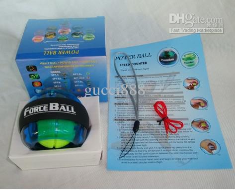 La mejor calidad PowerBall 10pcs giroscopio deportivo medidor de velocidad Power Ball giroscopio muñeca fortalecedor Bolas