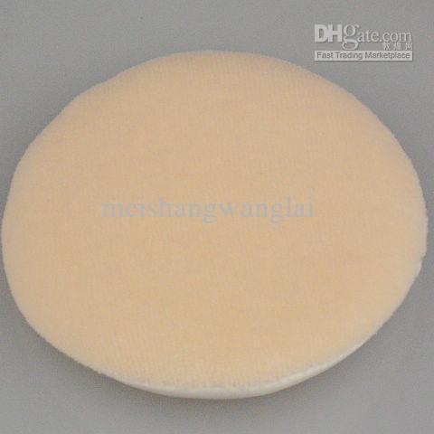 Ansikts- och kropps pulverpuff Vanlig bomullshandske Färg Sponge Powder Puff 30 st / Bag 85mm