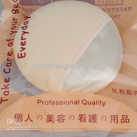 顔と体の粉のパフ普通の綿の手袋色スポンジパウダーパウフ30個/バッグ85mm