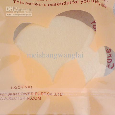 Puff en polvo para rostro y cuerpo Guante de algodón para uso general Puff en polvo para maquillaje de color 30 piezas / bolsa de 70 mm