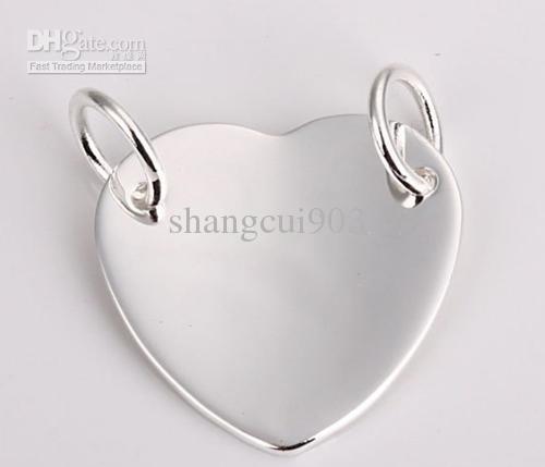 Mode-accessoires 925 zilveren hart ketting hangers fit charms ketting JOS005