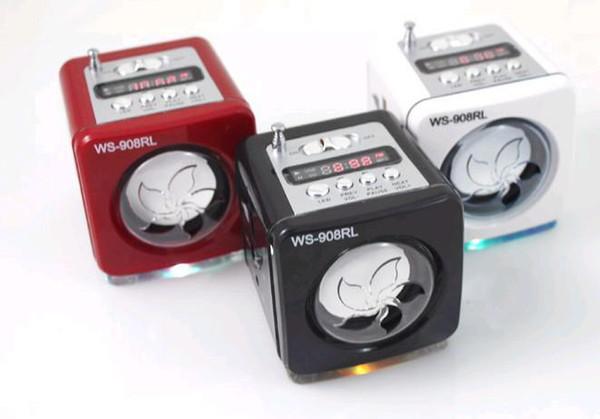 Ücretsiz Gemi Için 2 adet Karışık Mini Taşınabilir Ses Hoparlör MP3 Bilgisayar W / Kablo Perakende Kutusunda