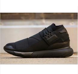 Wholesale Black Ninja - 2016 baru Y-3 Qasa tinggi G Dragon sepatu olahraga, Semua kualitas atas hitam Ninja Y3 sepatu,hitam pengiriman gratis