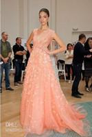 Wholesale Elie Saab Dresses For Sale - Elie Saab Dresses For Sale A Line V Neck Beading Applique Tulle Party Dress Elegant Evening Gowns HE