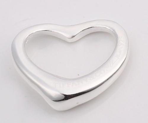 Accessori di moda 925 pendenti di collana cuore d'argento cavità vestono collane JOS011