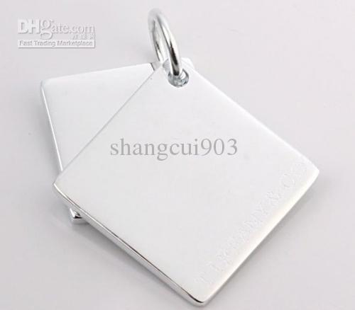 New 925 Silver Necklace pendants a Solid heart fit charms necklace JOS014
