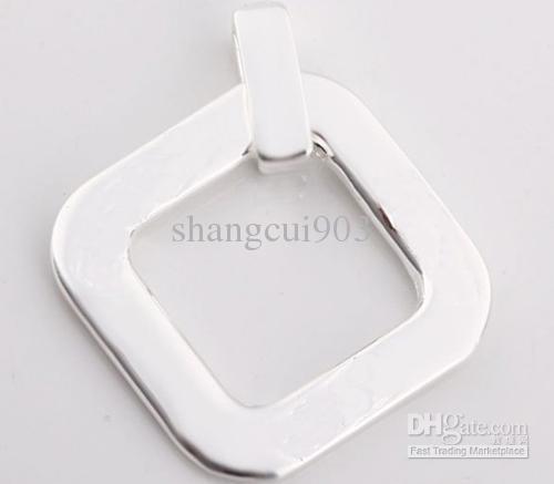 Mode-Accessoires 925 Silber Hohl Herz Halskette Anhänger passen Halsketten JOS011