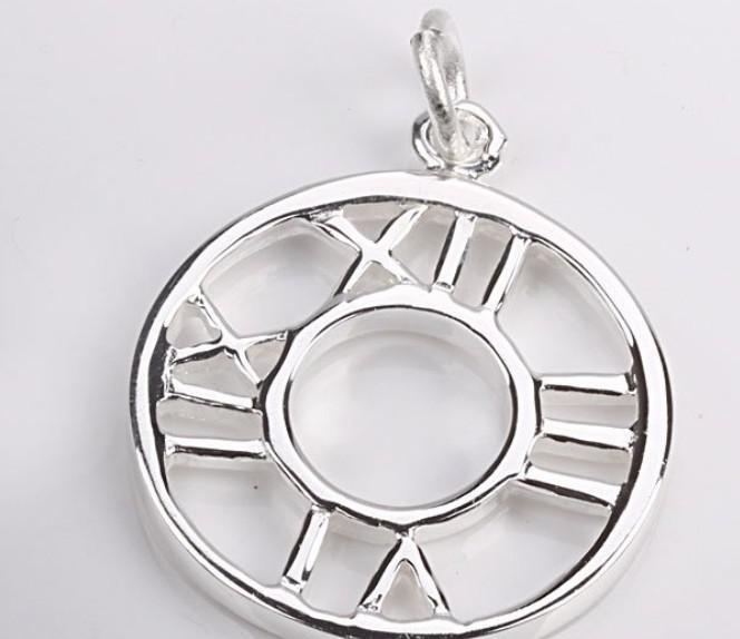 Biżuteria Moda 925 Srebrny naszyjnik Wisiorki Double Hearts Fit Charms Naszyjnik Jos022