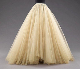 Wholesale Sexy Girls Photos Hottest - Tulle Petticoats Skirts Floor Length Mulitilayer Cheap Party Dress For Girl Free Size Formal Women Gowns 2015 Hot Sale Fashion Petticoat