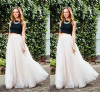 Wholesale Cheap Petite Clothing - 2016 ivory Long Length Layered Tulle Tutu Skirts For Adults Custom Made A-Line Cheap Party Prom Skirts Women Clothing Cheap Free Shipping