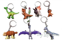 Wholesale Dinosaur Action - Free Shipping 7pcs Arlo Spot The Good Dinosaur 3-6CM Action Figures Set KEYCHAIN For Kids best Christmas gift New