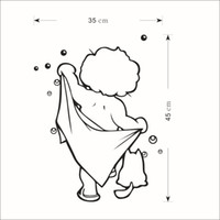 Wholesale Nursery Decals For Boys - Naked Boy with Bath Towel Wall Art Mural Decor Bath Room Shower Room Decoration Bathing Boy Wallpaper Decal Funny Naked Boy Art Decor Poster