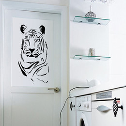 $enCountryForm.capitalKeyWord NZ - New Creative Tiger Wall Art Mural Decor Living Room Bedroom Wallpaper Decoration Sticker Kinglike Tiger Home Unique Decoration Decal