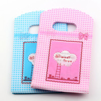 Wholesale Plastic Sweets Bag - Hot sell ! Jewelry Pouches .100pcs 9X15cm Sweet Love Plastic Bags Jewelry Gift Bag