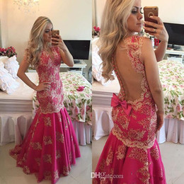 Wholesale Winter Sexy Dresses Shop Online - 2015 Arabic Burgandy Porm Dresses Buttons Beaded Lace Mermaid Vestido De Formatura Fast Shipping Shopping Sales Online
