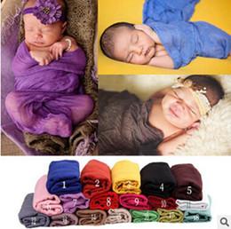 Wholesale Linen Cotton Fabric Wholesale - 170*110cm Cotton Linen Newborn Gauze Wraps Cheesecloth Wrap Newborn Baby Photo Props Wrap Blanket Wrap Gauze Fabric Infant Newborn Baby Wrap