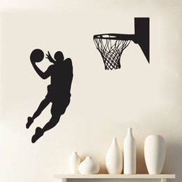 sports wall decor for boys room 2020 - Shoot at the Basket Wall Art Mural Decor Home Decoration Wallpaper Decal Sticker Sport Boys Kids Room Art Poster Graphic