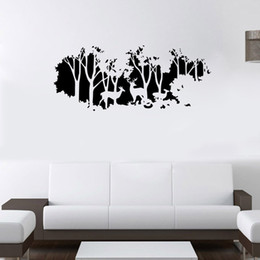 Wholesale wall sticker light - Extra Large Deer in the Forest Wall Art Mural Decor Living Room Bedroom Home Decal Wallpaper Poster Art Applique Decor 58 x 126cm