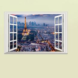 Декоративные обои для спальни онлайн-Декорации из окна стены искусства наклейка наклейка 3D вид из окна Обои Декор плакат Гостиная Спальня Прихожая декоративная графика