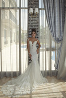 Wholesale Sexy Colors Chart - Mermaid Lace Backless V-Neck Chapel Train Beaded Sleeveless All Colors Customized Wedding Dress For Wedding