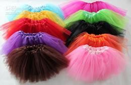 Wholesale Mixed Tutu - Free Shipping 10pcs 3 Layers Baby Tutus Skirt Tutu Dress 18 Colors Can Mixed All Colors