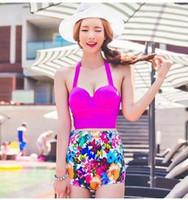 ingrosso belle signore bikini-Costumi da bagno donna Corea del Sud 2016 nuova moda vita alta rotto bella bikini Bikini a vita alta per le donne all'ingrosso