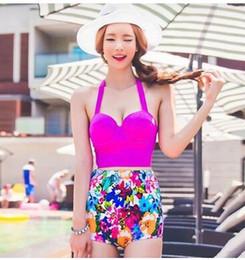 bikinis belles dames Promotion Corée du Sud Mesdames maillots de bain 2016 nouvelle mode taille haute cassé beau bikini Taille haute bikinis pour les femmes en gros