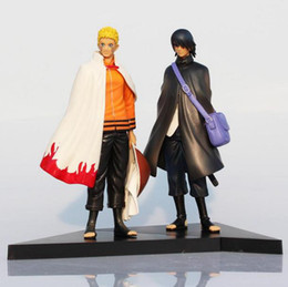 Wholesale Sasuke Uchiha Action Figures - Naruto Figure Uzumaki Naruto And Uchiha Sasuke PVC Action Figures Toys Model Dolls 17cm Approx Great Gift