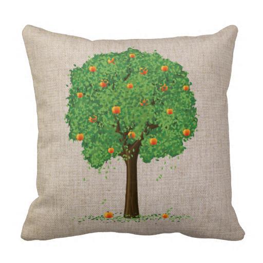 Ikea Green Plant Cotton Linen Pillow Case Suede Nap