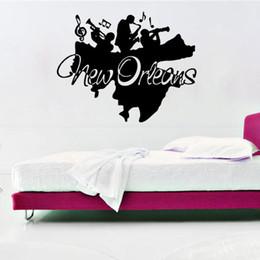 Artistic WAll Decor Online Shopping   New Orleans Jazz Wall Art Mural Decor  Sticker Jazz Band