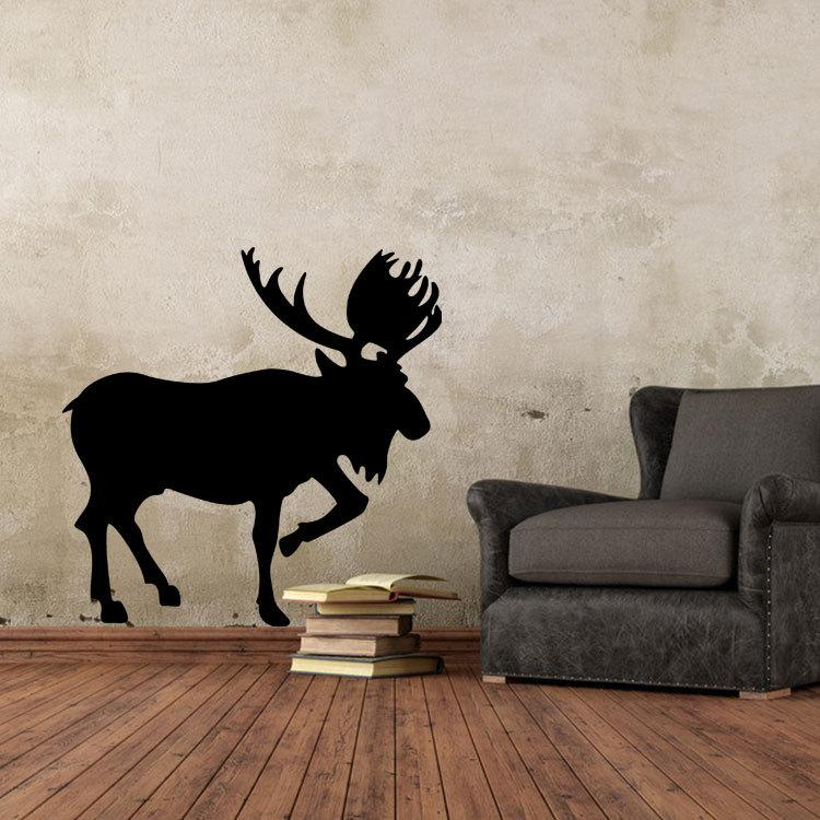 디어 벽 예술 벽화 장식 포스터 순조로운 동물 사슴 벽 데칼 스티커 고유 거실 침실 벽 문신 장식 그래픽