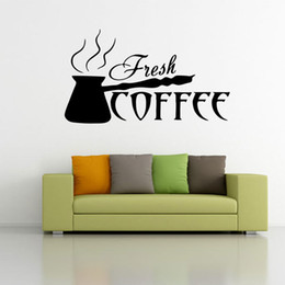 plane tattoos 2020 - Making Coffee Wall Art Mural Poster Fresh Coffee Wall Decal Sticker Kitchen Room Restaurant Dining Room Artistic Decorat