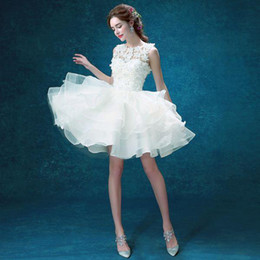 Discount Lavender Zuhair Murad Wedding Dresses Fascinate 2016 Lace Short White Bridesmaid The