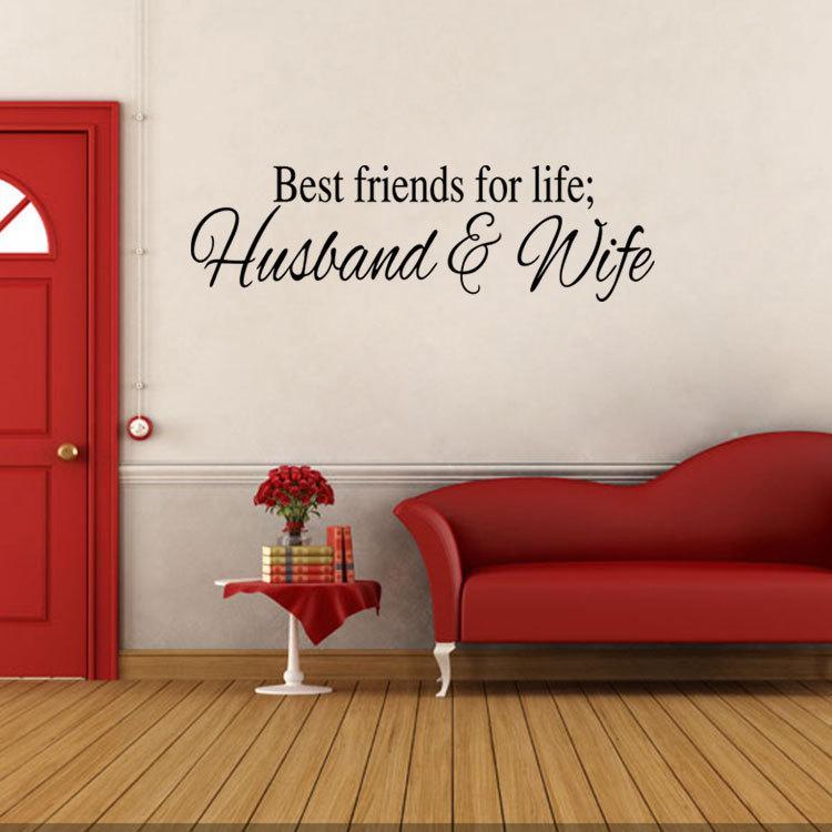 Best Friends For Life Ehemann Ehefrau Wand Anfhrungsstrich Abziehbild Aufkleber Englisch Monogramm Dekor Kunst Sagen Wohnzimmer Schlafzimmer Wandbild