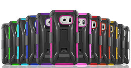 Cell Phone Cases For Samsung Galaxy Canada - For Samsung Galaxy S7 Edge Super Combo Heavy Duty With Kickstand Shockproof Cell Phone Case With Clip TPU+PC