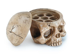 Wholesale Skull Ink Cap Holders - Tatouage Ink Holder Skull Plastic Tattoo Ink Cup Cap Holder Stand Supply with 50pcs Small ink Cap