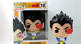Wholesale Dragon Children - New hot sale FUNKO Pop Dragon Ball Z Super saiyan Vegeta Boxed PVC Collection 12CM gift for children