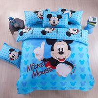 Wholesale Doona Kids - 8 styles children baby Child kids bedding set 4pcs Cartoon printed doona Duvet cover  comforter cover pillowcase bed sheet sets