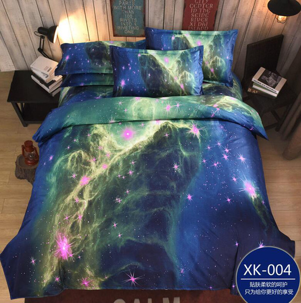 Home Textile 3d Galaxy Bedding Sets Twin Queen Size