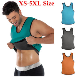 Wholesale Wholesale Corsets For Waist Training - XS-5XL Plus Size Waist Training Corset For Men Sport Vest Top Neoprene Waist Trainer Waist Cincher Sauna Suit Hot Body Shaper