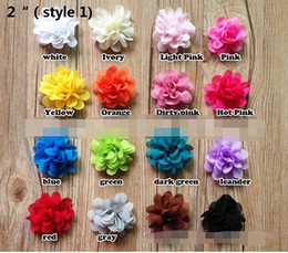 "Wholesale Shoe Brooches Clips - 15% off!New Arrival 2""chiffon flower for hair clip Hair Accessories for headband brooches accessories Clothing and shoes accessories 80pcs"