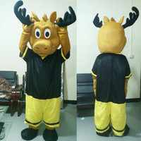 Wholesale Custom Real Doll - free shipping mesure mascot real picture Moose in sport suit Mascot Suit Adult Size Mascot Costume Adult Size Outfit Plush Doll Fancy Dress