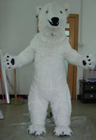 Wholesale dropshipping mesure mascot Adult lovely white polar bear mascot costume custom made mascot fancy dress costumes animal costume party costume